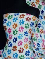 Polar fleece - anti pill washable soft fabric paws Q396 CRMMLT