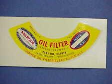 1935 36 37 38 39 40 41 42 46 47 48 49 50 51 52 53 54 55  MoPar Oil Filter DECAL