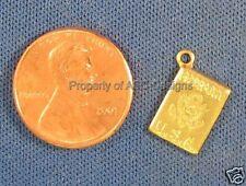 50pc Raw Brass U.S.A Traveling Passport Charms 5228