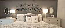 BEST FRIENDS FOR LIFE HUSBAND & WIFE Wall Art Decal Quote Words Lettering 60""