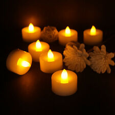 4/24x Flameless Flickering Led Tea Lights Home Décor Electric Candles W/ Timer