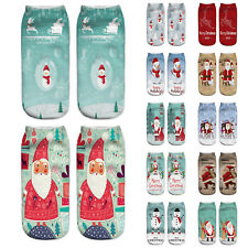 Christmas Xmas Santa Cotton Slipper Socks Adults Kids Winter Ankle Socks Gift
