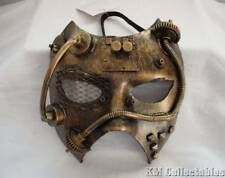 Steam Phantom Steampunk Mask.Free P&P.Cosplay Metal Cogs Pipes Fancy Dress Studs