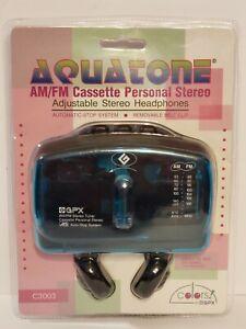 VINTAGE GPX Aquatone BLUE/GREEN Cassette Player SEALED  C3003