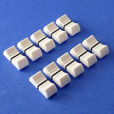 MIXER SLIDER Fader Knobs 4mm Fit - White X 10 (+Option: Other Colours)
