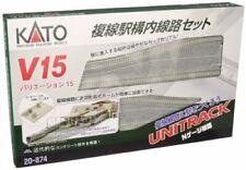 KATO N gauge V15 double-track railway station yard line set 20-874 model railroa