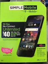 ZTE ZFIVE 2 LTE SIMPLE MOBILE POWERED  T MOBILE (2C)