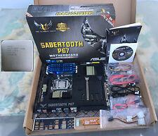 ASUS Sabertooth P67 Rev 3.0 LGA 1155  Intel Core i7-2600K 3.4 GHz CPU 16gb DDR3