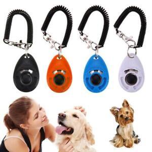 Pet Dog Training Clicker Cat Puppy Button Clicker Trainer Obedience Aid Wris_RI