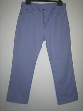 RR72 ) WOMENS LEE  STRAIGHT LILAC JEANS ZIP FLY  SIZE 14  INSIDE LEG 27 INCHES