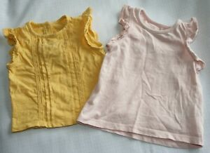 Next and Mothercare baby girls tops - age 6 - 9 months