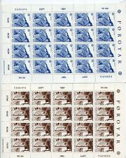 Faroe Islands 1987 Europa Nordic House Mnh Sheets x 20 Stamps (2 Items)