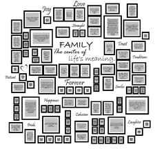 Family Wall - wall sticker / adesivo murale porta fotografie 210 x 203