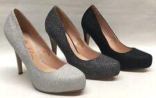 NEW Womens Blossom Summer67 WEDDING PAGEANT High Heels Glitter Platform Shoes