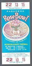 1978 NCAA ROSE BOWL UNUSED FOOTBALL TICKET - HUSKIES VS MICHIGAN WOLVERINES