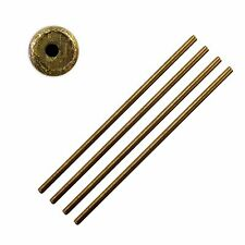 Brass hollow bushing wire x5 clock repairs clockmakers parts spares 2.5 x 0.75mm