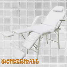 Massage Table Chair 3 Fold White Treatment Salon Portable Beauty Therapy Waxing