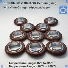 KF16 Stainless steel 304 Centering Ring with O-ring = Viton (10 pcs pack)