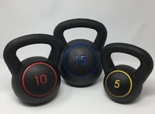 Golds Gym 30lb Kettle Bell Set Includes 3 Kettlebells - 5, 10, & 15lb