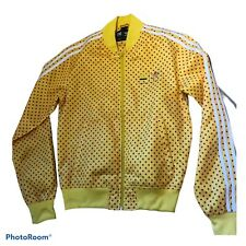 Rare Adidas Pharrell Satin Shiny tracksuit Jacket Wet look Trefoil Rasta
