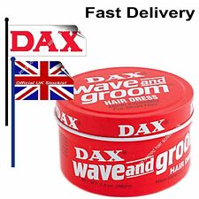 Dax Wave And Groom Wax Hair Dress Red Tin 3.5oz 99g Barbers Mens Hairdressing