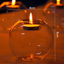 Crystal Round Shape Glass Candle Holder Wedding Dinner Dector Romantic