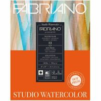 Fabriano Studio Watercolor Paper 140 lb. Hot Press 12-Sheet Pad 11x14""