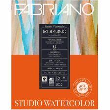 """Fabriano Studio Watercolor Paper 140 lb. Hot Press 12-Sheet Pad 11x14"""""""