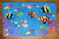 Tropical Fish AQUARIUM Beach House Ocean Coral Aqua Bathroom Rug Floor Mat