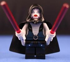 LEGO STAR WARS 7957 minifigure ASAJJ VENTRESS SITH ASSASSIN 2 curved sabers 7676
