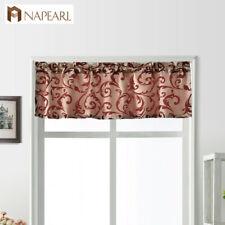 NAPEARL 1 Panel Window Decor Pelmet Rod Pocket Jacquard Valance Kitchen Drapes