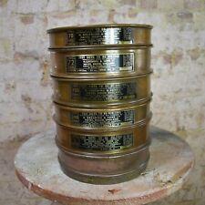 Vintage WW2 1943 Greening & Sons Brass Test Sieves Laboratory Decorative British