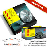 Bosch Bremsenset 2x Bremsscheiben Beluftet 256mm und Beläge Vorne Audi Seat VW