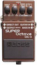 Boss OC-3 OC3 Super Octave Effects Guitar Bass Pedal New