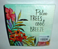 """NEW Package of 20 Palm Trees cool BREEZE Foil COCKTAIL Napkins 3-ply 9.75"""" sq."""