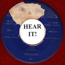 The Crows DOO WOP 45 (Rama 5 red wax) Gee / I Love You So    CLASSIC!!