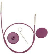 KnitPro Interchangeable Needle Cable Purple Yellow Green Red Orange Blue