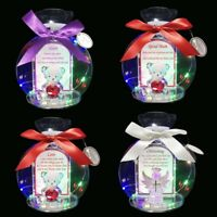 LED Light Teddy Gift for Him Her Some one Special Mum Sister with Poem Ornament