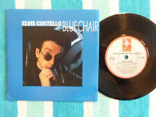 """ELVIS COSTELLO Blue Chair 45 rpm 7"""" w/ PICTURE SLEEVE Demon 1987 UK Pressing"""