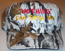 Crazy Rider hat. Nothing can stop me but a tree. Green snow camo. camoflage
