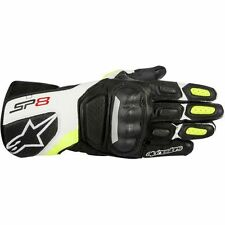 ALPINESTARS SP-8 SPORT LEATHER GLOVES BLACK/WHITE/YELLOW FLUO XX-LARGE