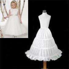 Flowergirl Bridesmaid Children Girls Dress White Petticoat Child Underskirt Kids