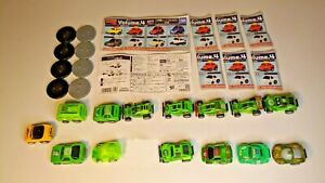 14 Penny Racers/Choro-Q, Instructions, Disks, Case, Good Condition, Clean