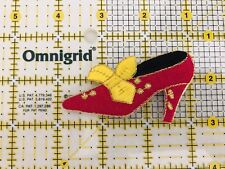 Iron On Patch Red Yellow High Heels Lady's Shoes  Unused Pumps