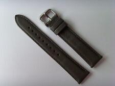 FOSSIL Original Ersatz Lederarmband ES3065 Uhrband watch strap grau grey 18 mm