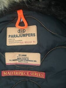 Men's parajumpers jacket xxl black, genuine with tags