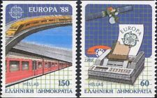 Greece 1988 Europa/Communications/Trains/Satellite/Transport/Railway 1v (ex1025)