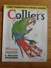 August 20 1938 Collier's Magazine-Color Coke & 2-Pg Ford Ads-Girl's Softball