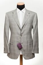 SARTORIA PARTENOPEA NAPOLI for AVI ROSSINI Wool + Silk Jacket Check 38US 48EU 6R