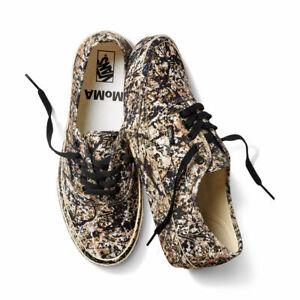 MoMA X Vans Jackson Pollock Authentic Sneakers Shoes Men's Size 10.5